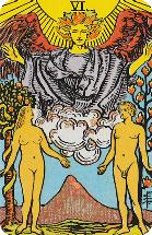Tarot kaart van de Geliefden