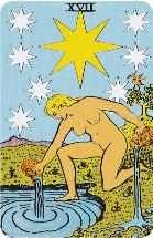 Betekenis Grote Arcana Tarot Kaarten - De Ster