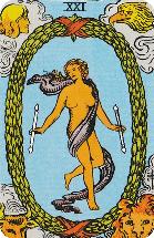 Betekenis Grote Arcana Tarot Kaarten - De Wereld