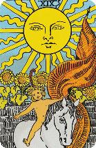 Tarot kaart van de Zon