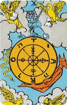 Tarot kaart rad van fortuin