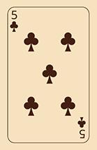 Cartomancy Klaveren Vijf