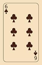 Waarzeggen met speelkaarten klaveren zes